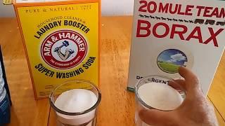 Helathy, DIY Dish Washing Soap, Using Borax, Washing soda ... (save money too :)