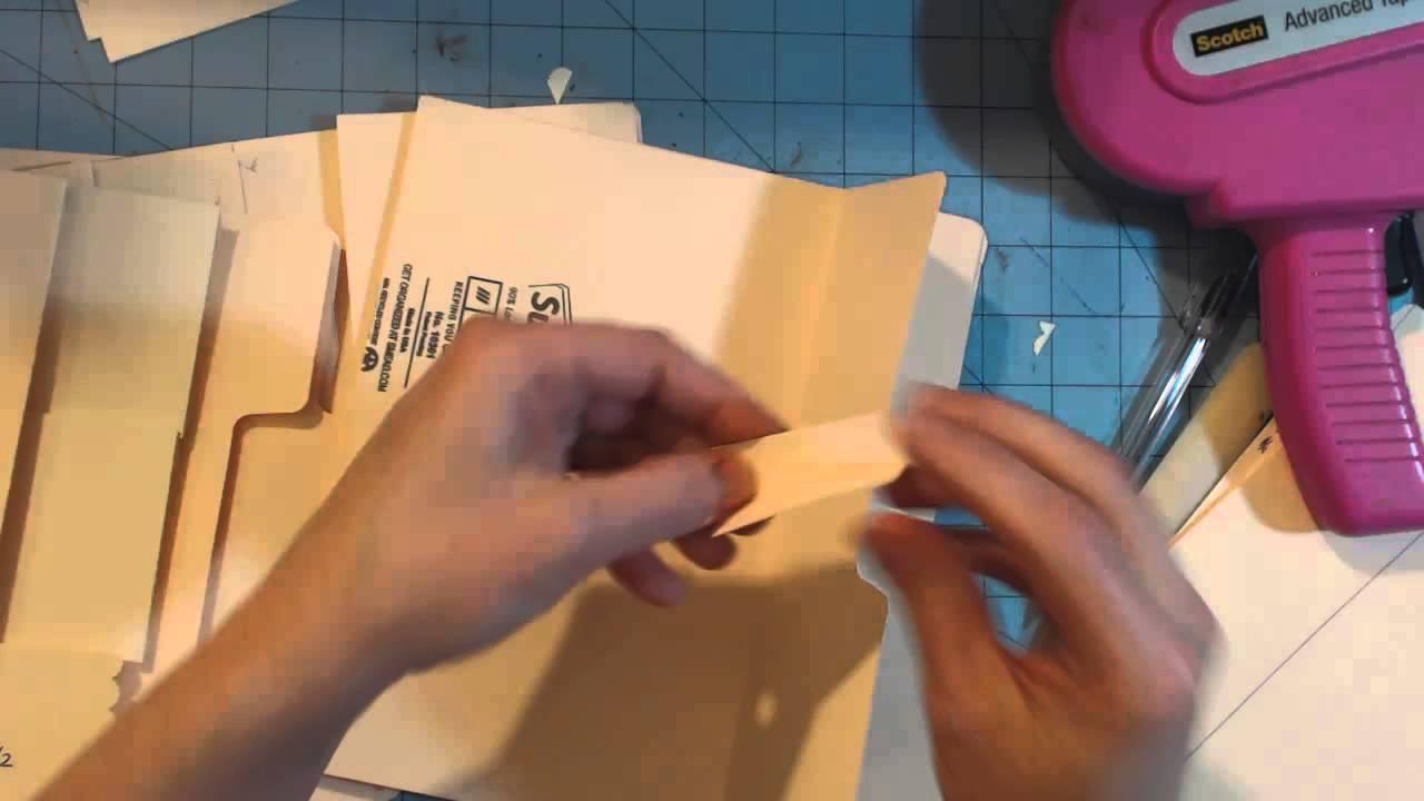 Ladies Diary File Folder Mini Album Tutorial
