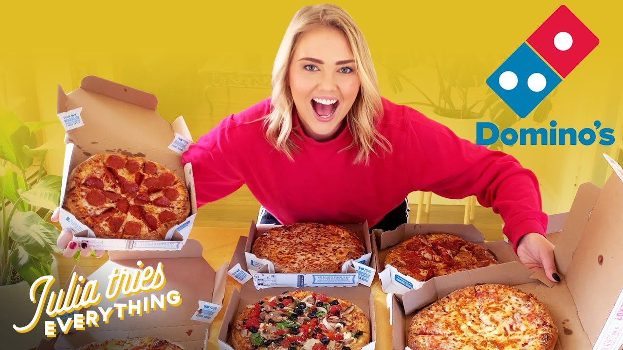 Trying ALL Of The Most Popular Menu Items From Domino's Pizza At Home -  YouTube