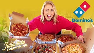 Trying ALL Of The Most Popular Menu Items From Domino's Pizza At Home