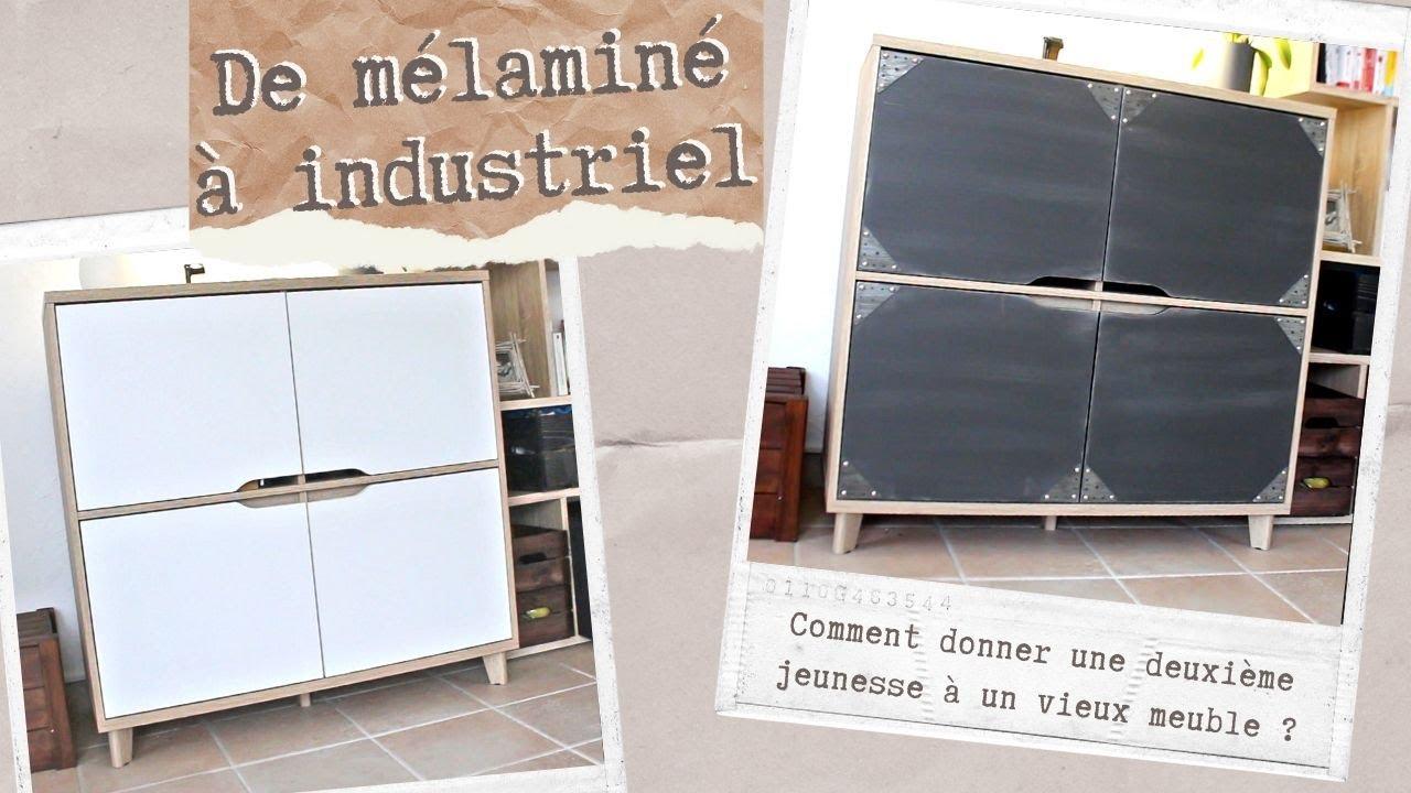 comment transformer un meuble en melamine en meuble industriel