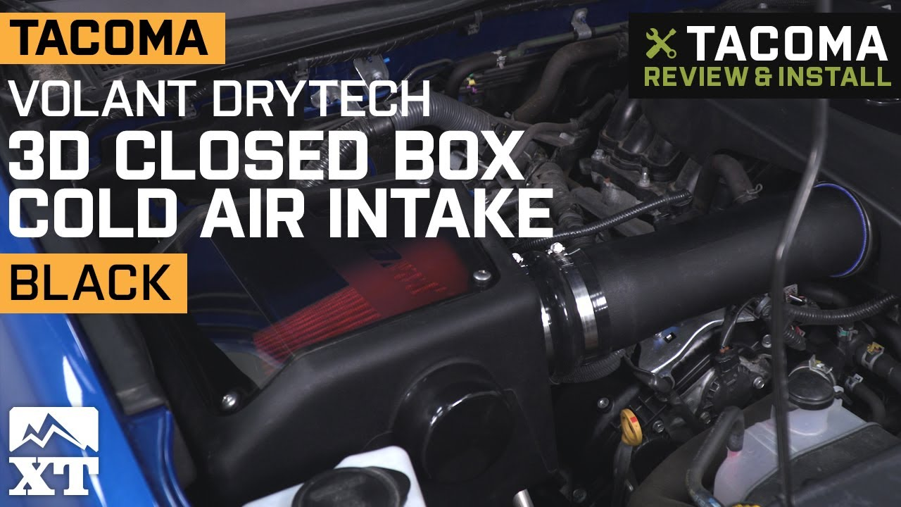 Tacoma Volant Drytech 3d Closed Box Cold Air Intake 2016 2019 3 5l Review Install Youtube