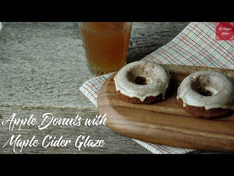 apple cider doughnuts with maple glaze