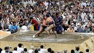 2018年8月25日に行われた大相撲 春日部場所の結びの一番、鶴竜VS稀勢の...