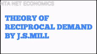 Theory of reciprocal demand for international trade