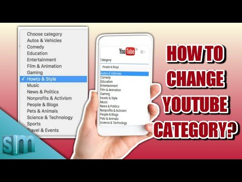 How To Change YouTube Category?