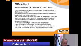 Datenschutz & Datensicherheit in der Piratenpartei - Marina Kassel 15.2