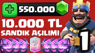 550.000 GEM / 10.000 TL CHEST OPENING