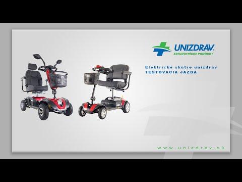 Elektrické skútre UNIZDRAV - testovacia jazda
