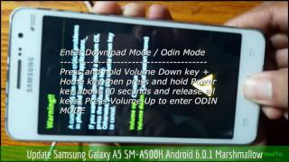 Update Samsung Galaxy A5 SM-A500H to Android 6.0.1 Marshmallow
