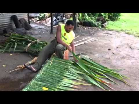 Building A House With Palm Leaves Youtube