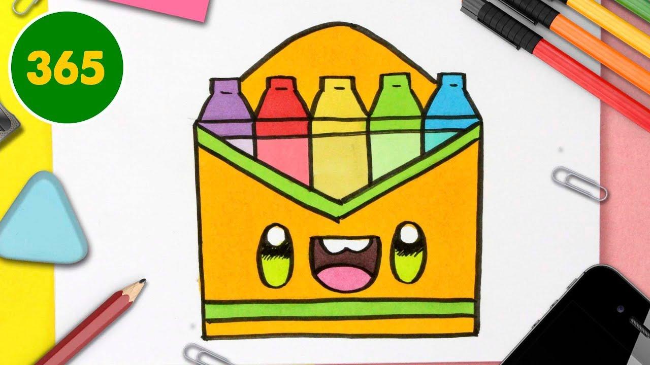 Comment Dessiner Une Boite De Crayons Kawaii Dessins Kawaii Faciles Fournitures Scolaires Youtube