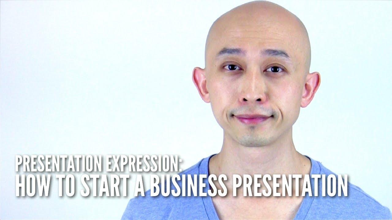 how to start o presetatio