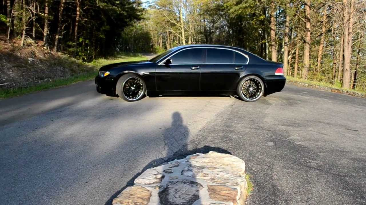 "Bmw Rims 22 Inch >> 03 BMW 745Li E66 22"" MRR GT1 blk/blk ACS kit - YouTube"