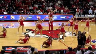 Marist College Cheerleaders During Timeout - Fairfield vs Marist - March 03, 2013