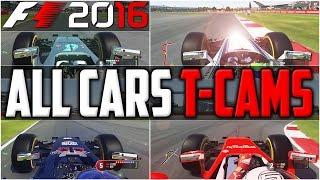 F1 2016 ALL T-CAMS PART 1: MERCEDES, FERRARI, RED BULL, WILLIAMS & FORCE INDIA