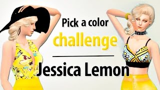 PICK A COLOR CHALLENGE - YELLOW | Los Sims 4 | Jessica Lemon