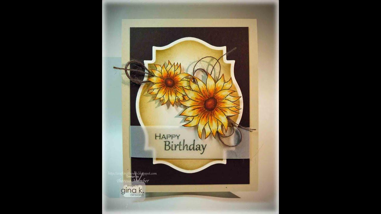 Birthday Sunflower Card
