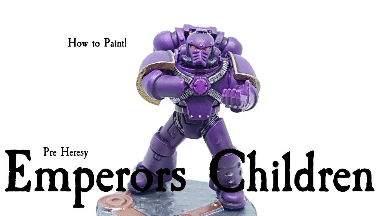 How to Paint Pre Heresy Emperors Children  YouTube