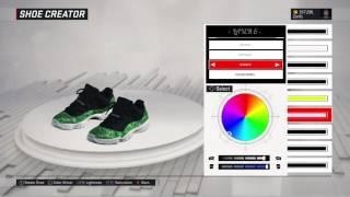 nba 2k17 shoe creator air jordan 11 low green snakeskin