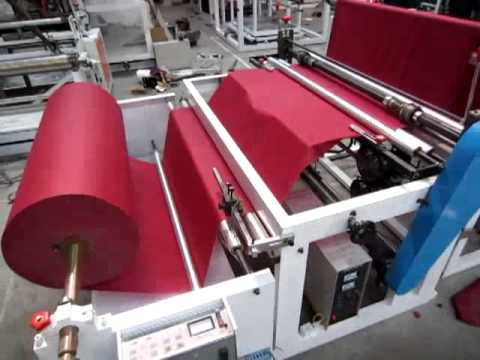 Non Woven Bag Cutting And Sewing Machine YouTube Stunning Automatic Cutting And Sewing Machine Price