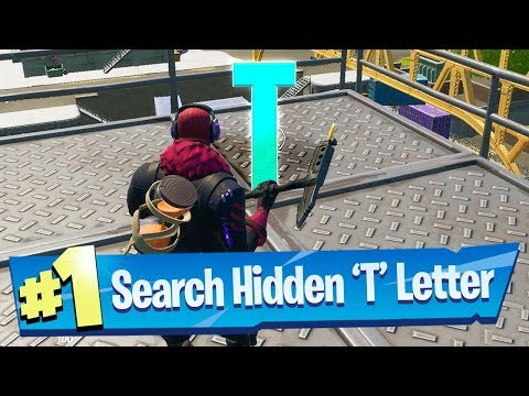 Search Hidden 'T' Found In The Dockyard Deal Loading Screen - Fortnite Battle Royale
