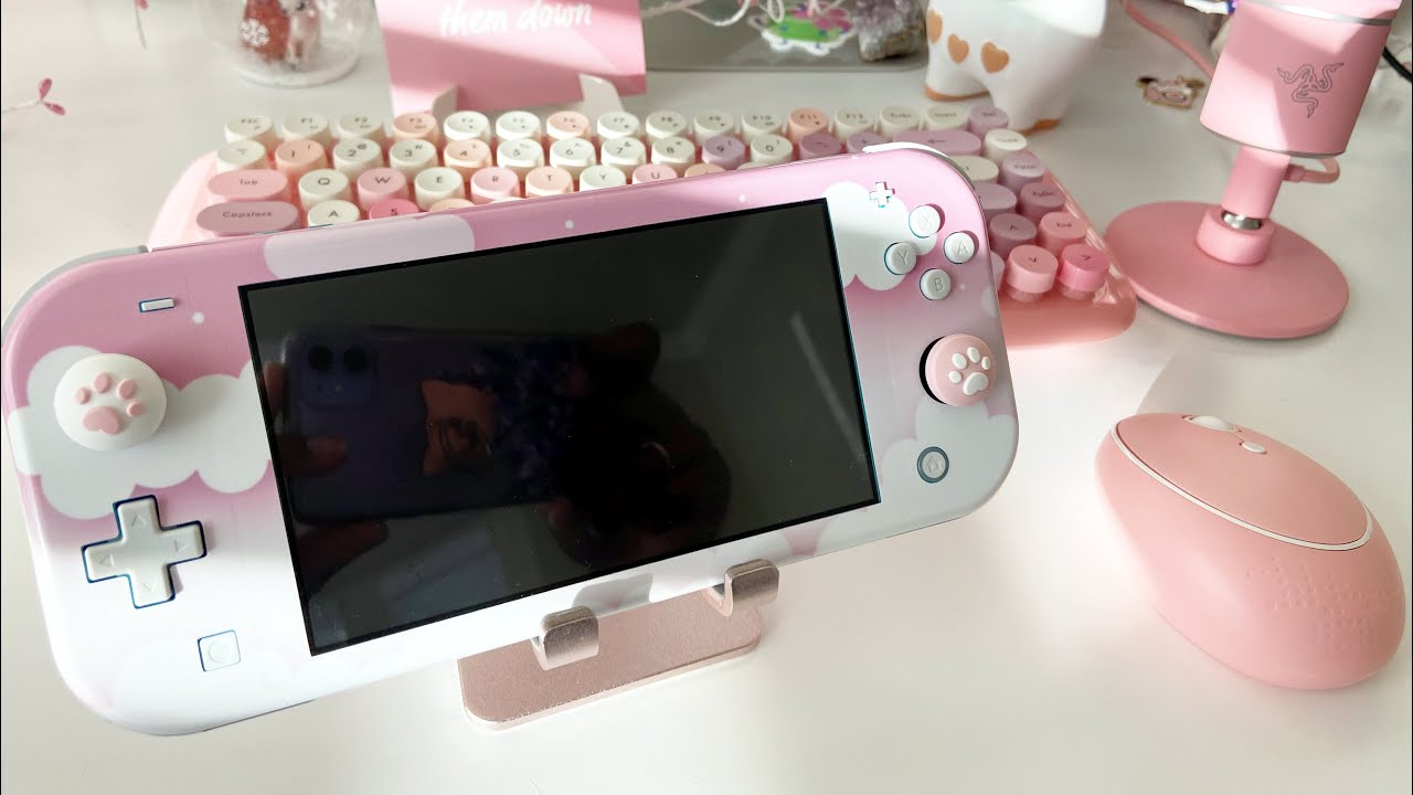 Kawaii Pink And White Nintendo Switch Lite Nintendo Switch Lite
