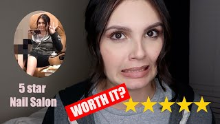 NAIL TECH GOES TO THE BEST RATED NAIL SALON | *unexpected reaction*