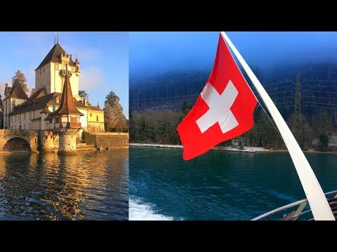 Winter Boat Cruise In First Class On Lake Thun From Interlaken (Thunersee)
