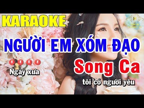 Karaoke Người Em Xóm Đạo Song Ca Nhạc Sống | Trọng Hiếu