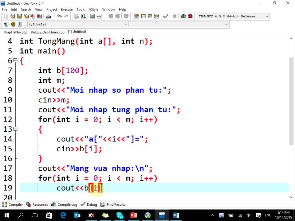 NNLT-C++: Đệ quy – Tính tổng mảng