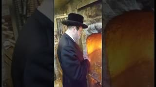 Boyan Rebbe Lights Candle For Sponsors Of Hachnosas Orchim In Meron Lag Baomer 5777