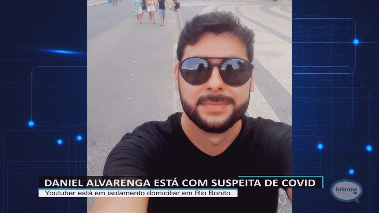 Youtuber Daniel Alvarenga está com suspeita da Covid-19