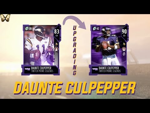 UPGRADING DAUNTE CULPEPPER | Twitch Prime Legend | Madden 18 Ultimate Team✰