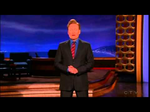 "Conan jokes about ""Kiss a Ginger Day"""