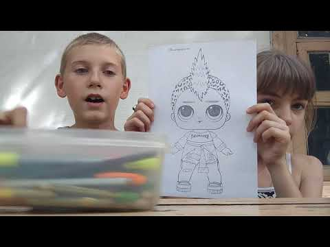 3 маркера Челендж!Это ужастики.Рисуем кукол LOL.