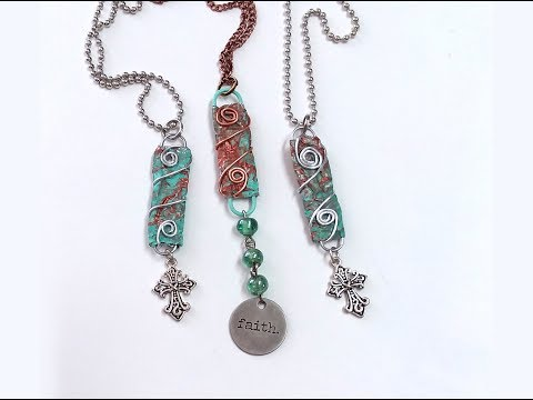Altered Paper Clip Charm Foil Wrapped - Tutorial