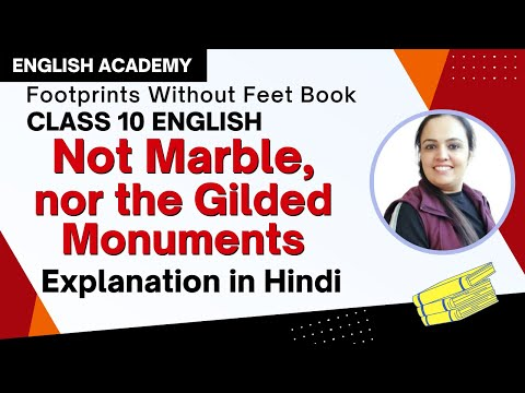 not marble nor the gilded monuments summary