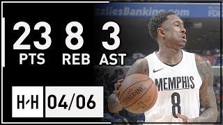 MarShon Brooks Full Highlights Kings vs Grizzlies (2018.04.06) - 23 Pts, 8 Reb, 3 Ast!