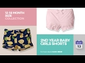 2nd Year Baby Girls Shorts 12-18 Month Size Collection