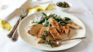 Grilled Chicken With Mint And Pine Nut Gremolata Recipe