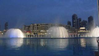The Dubai Fountain light show - Baba Yetu - Februar 2011