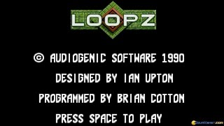 Loopz gameplay (PC Game, 1990)