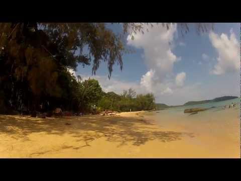 Koh Rong island, walking along the coast