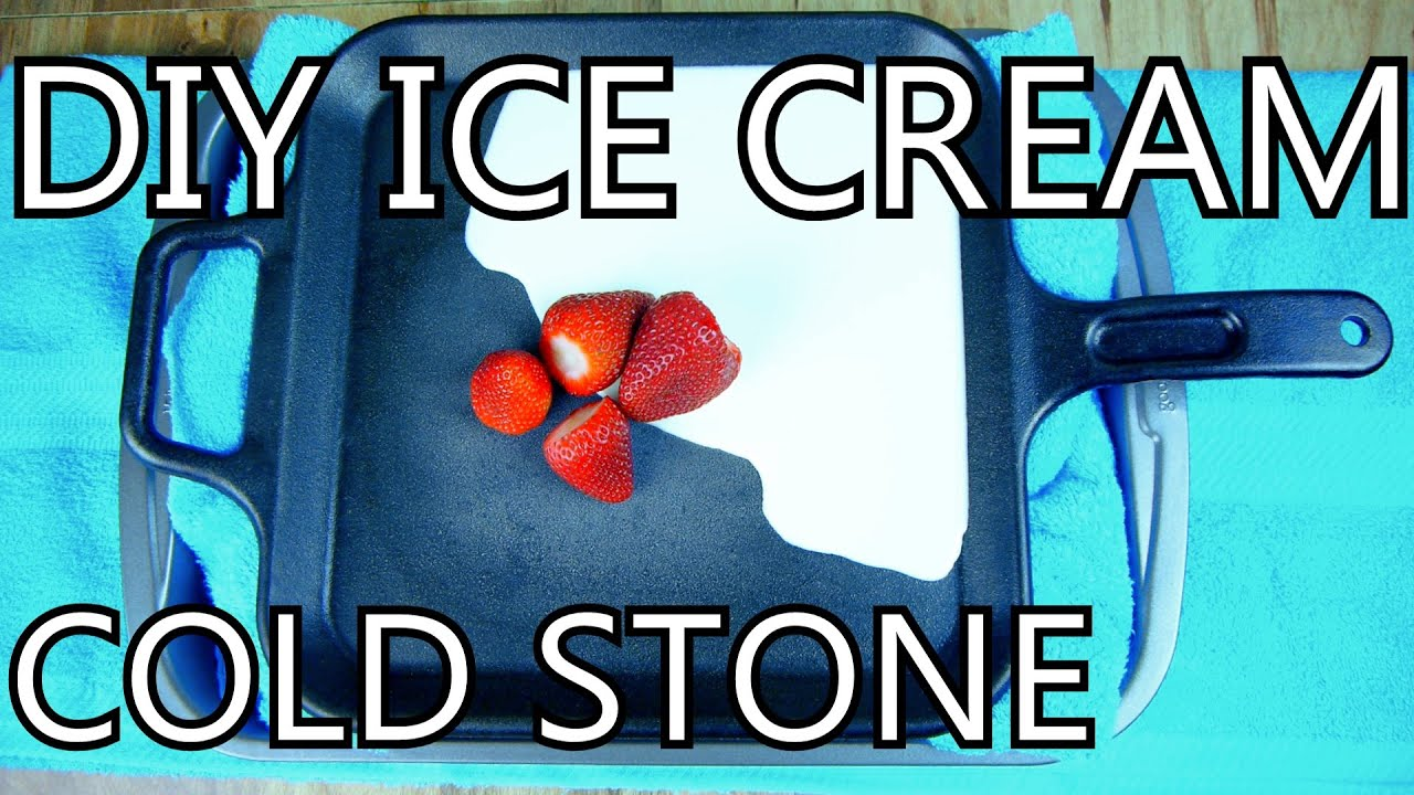 How to make ice cream with a frying pan diy cold stone how to make ice cream with a frying pan diy cold stone nighthawkinlight youtube ccuart Image collections