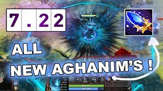 Dota 2 NEW 7.22 PATCH - ALL AGHANIM'S SCEPTERS!