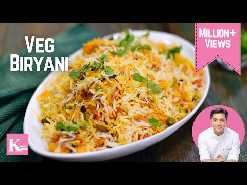 Veg Dum Biryani वेज दम  बिरयानी | Kunal Kapur Rice Recipes | Chef Kapoor North Indian Kkitchen