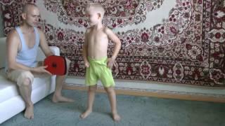 Детское каратэ дома  8 месяцев занятий. ребенку 4 года, 8 месяцев(160728., 2016-07-28T17:53:28.000Z)