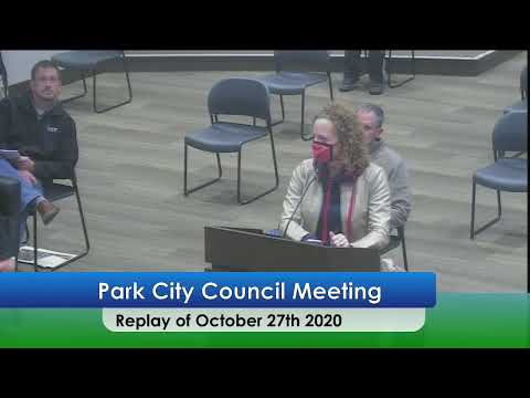 The City Of Park City, KS - City Council Meeting - October 27, 2020
