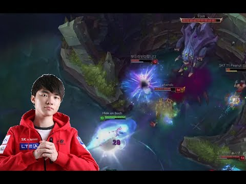 League of Legends - Gameplay Faker mid Ahri - Best farm
